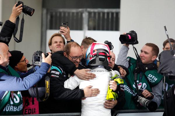 2017 DTM Round 7  Nürburgring, Germany  Sunday 10 September 2017. Race winner Robert Wickens, Mercedes-AMG Team HWA, Mercedes-AMG C63 DTM  World Copyright: Alexander Trienitz/LAT Images ref: Digital Image 2017-DTM-Nrbg-AT1-2644