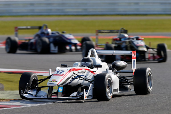 FIA F3 European Championship - Round 1, Race 3. Silverstone, Northamptonshire, UK 10th - 12th April 2015 17 Julio Moreno (ECU, ThreeBond with T-Sport, Dallara F312 – NBE), 21 Alexander Albon (THA, Signature, Dallara F312 – Volkswagen). Copyright Free FOR EDITORIAL USE ONLY. Mandatory Credit: FIA F3. ref: Digital Image FIAF3-1428842375