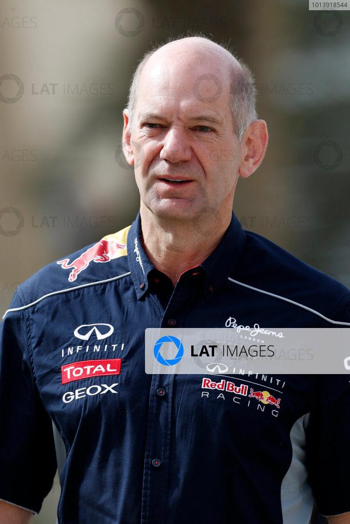 Bahrain International Circuit, Sakhir, Bahrain Friday 19th April 2013 Adrian Newey, Chief Technical Officer, Red Bull Racing.  World Copyright: Charles Coates/LAT Photographic ref: Digital Image _N7T8990