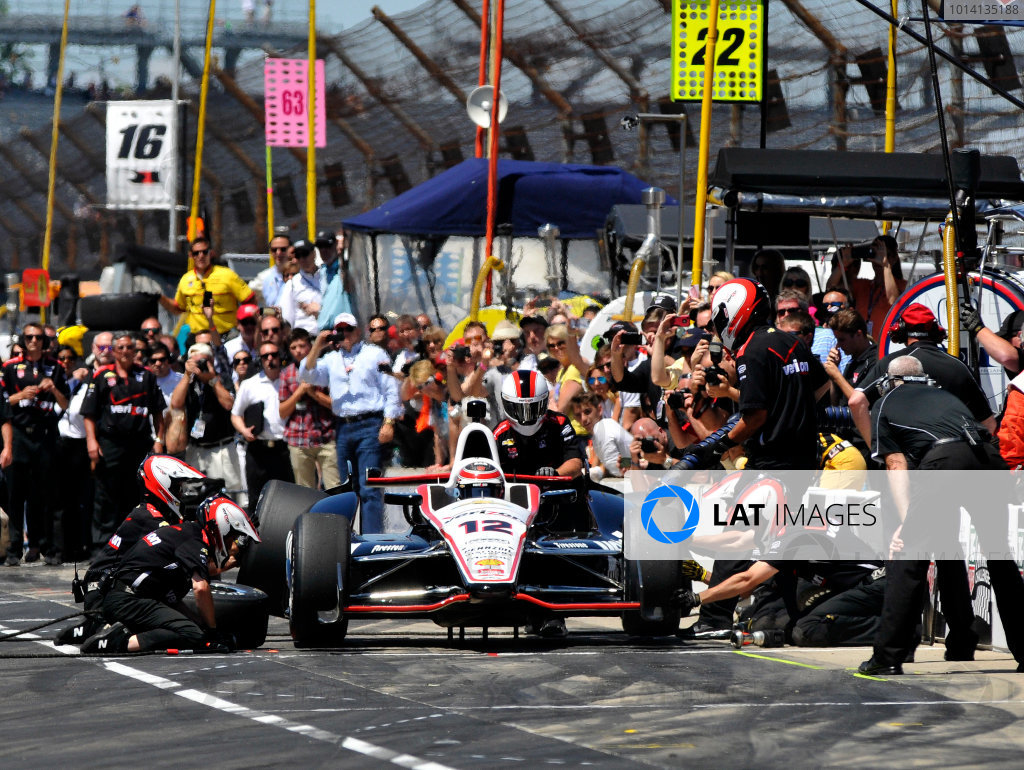 23 May, 2014, Indianapolis, Indiana, USA Will Power during pit stop competition ©2014, Geoffrey M. Miller LAT Photo USA