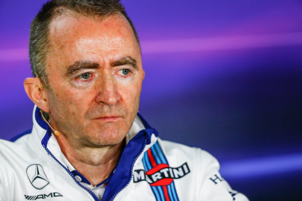 Albert Park, Melbourne, Australia. Friday 24 March 2017. Paddy Lowe, Williams Martini Racing Formula 1, in the Team Principals Press Conference. World Copyright: Sam Bloxham/LAT Images ref: Digital Image _W6I2430