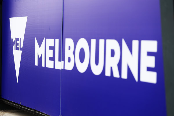 Albert Park, Melbourne, Australia. Wednesday 22 March 2017. Paddock detail showing Melbourne signage. World Copyright: SAM BLOXHAM/LAT Images ref: Digital Image AJ6I0034
