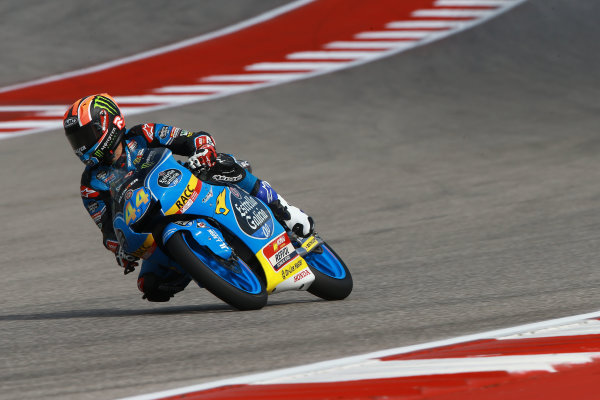2017 Moto3 Championship - Round 3 Circuit of the Americas, Austin, Texas, USA Friday 21 April 2017 Aron Canet, Estrella Galicia 0,0 World Copyright: Gold and Goose Photography/LAT Images ref: Digital Image Moto3-500-1517