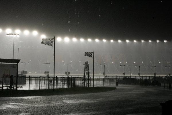 10-12 July, 2008, Joliet, Illinois USARain Storm at Chicagoland Speedway©2008, David M. Vaughn, USALAT Photographic