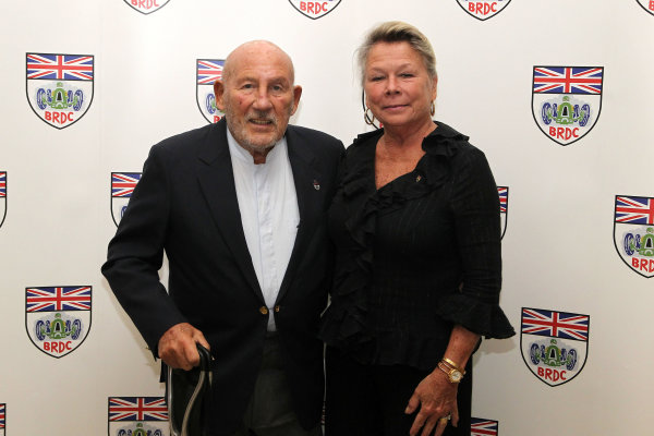 2015 British Racing Drivers Club Awards Grand Connaught Rooms, London Monday 7th December 2015 Sir Stirling Moss with his wife Susie. World Copyright: Jakob Ebrey/LAT Photographic ref: Digital Image Moss-01 (2)