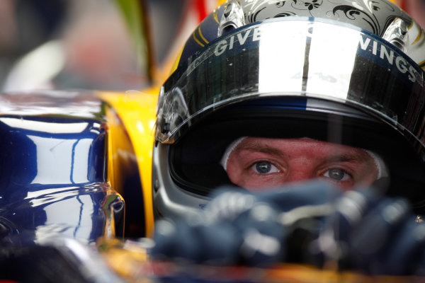 Sepang, Kuala Lumpur, Malaysia 3rd April 2009 Sebastian Vettel, Red Bull Racing RB5 Renault. Portrait. Helmets.  World Copyright: Glenn Dunbar/LAT Photographic ref: Digital Image _O9T4847