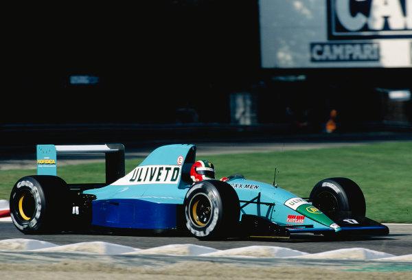1992 Italian Grand Prix.Monza, Italy. 11-13 September 1992.Emanuele Naspetti (March CG911 Ilmor).Ref-92 ITA 19.World Copyright - LAT Photographic