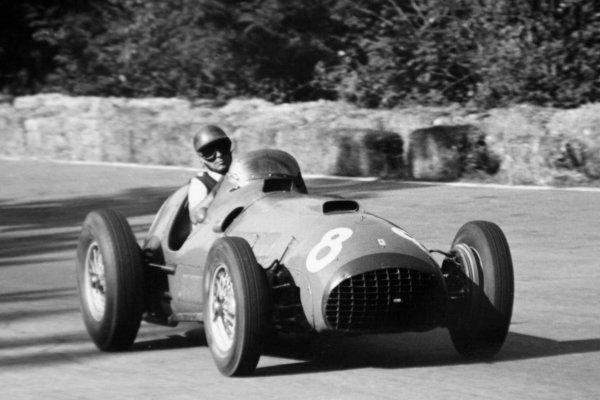1951 Italian Grand Prix.Monza, Italy. 16 September 1951.Piero Taruffi (Ferrari 375), 5th position. Ref-51/50 #20.World Copyright - LAT Photographic