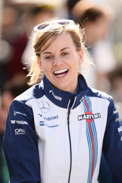 Susie Wolff (GBR) Williams Development Driver at Formula One World Championship, Rd1, Australian Grand Prix, Preparations, Albert Park, Melbourne, Australia, Thursday 12 March 2015.