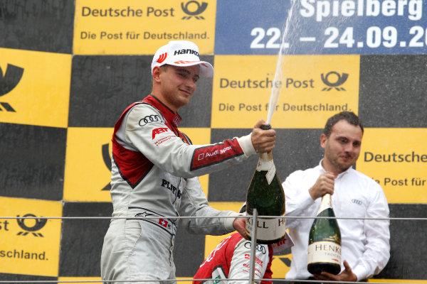2017 DTM Round 8  Red Bull Ring, Spielberg, Austria  Sunday 24 September 2017. Podium: Nico Müller, Audi Sport Team Abt Sportsline, Audi RS 5 DTM  World Copyright: Alexander Trienitz/LAT Images ref: Digital Image 2017-DTM-RBR-AT3-2804