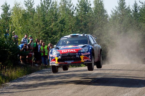 Round 8, Rally Finland, 28th - 30th July 2011Sebastien Ogier, Citroen, ActionWorldwide Copyright: LAT/McKlein