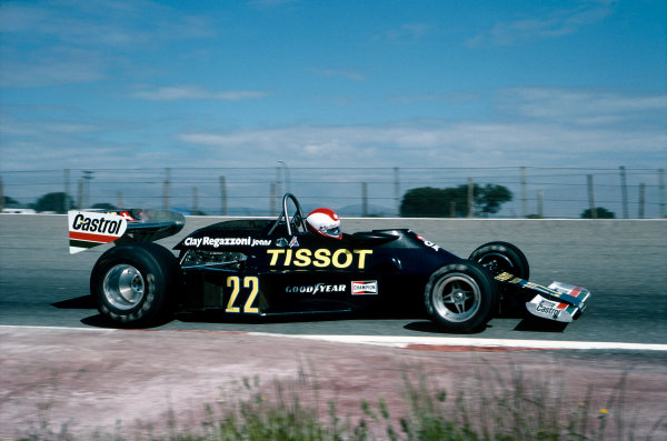 Jarama, Madrid, Spain. 6th-8th May 1977. Clay Regazzoni (Ensign N177-Ford), retired, action.  World Copyright: LAT Photographic. Ref:  77ESP09.