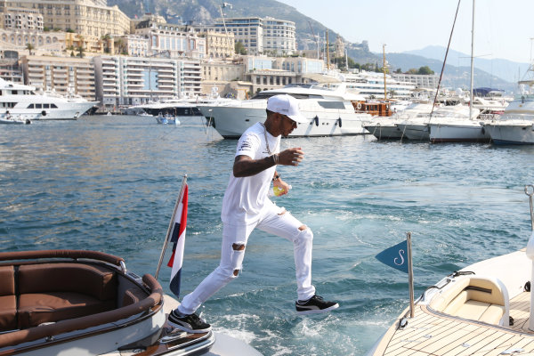 Monte Carlo, Monaco. Sunday 28 May 2017. Lewis Hamilton, Mercedes AMG.  World Copyright: Zak Mauger/LAT Images ref: Digital Image DJ5R1248