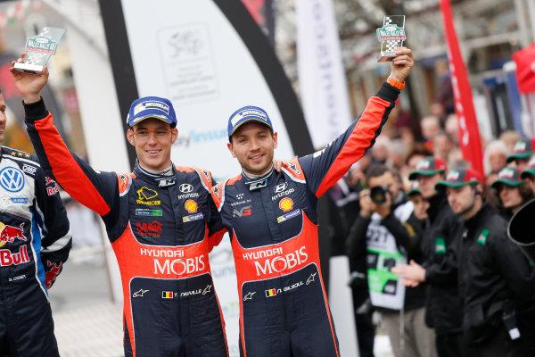 2016 FIA World Rally Championship, Round 13, Wales Rally GB 2016 October 27 - 30, 2016 Thierry Neuville, Hyundai, podium  Worldwide Copyright: McKlein/LAT