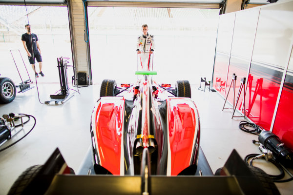 2017 GP3 Series Test 4.  Hungaroring, Budapest, Hungary. Tuesday 6 June 2017. Anthoine Hubert (FRA, ART Grand Prix)  Photo: Zak Mauger/GP3 Series Media Service. ref: Digital Image _56I0747