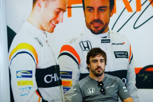 Baku City Circuit, Baku, Azerbaijan. Thursday 22 June 2017. Fernando Alonso, McLaren.  World Copyright: Steven Tee/LAT Images ref: Digital Image _R3I1216