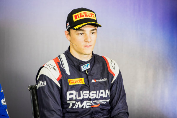 2017 FIA Formula 2 Round 6. Silverstone, Northamptonshire, UK. Sunday 16 July 2017. Artem Markelov (RUS, RUSSIAN TIME).  Photo: Zak Mauger/FIA Formula 2. ref: Digital Image _56I0844