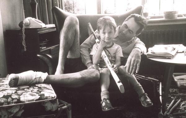 Sir Jack Brabham with his son David Formula One Drivers Childhood Photographs