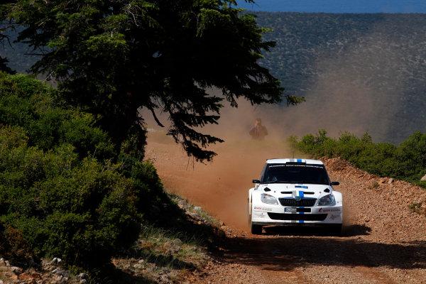 Round 06 - Rally Acropolis Greece. 24-27 May 2012. Sebastien Ogier, Skoda S2000, Action. Worldwide Copyright: McKlein/LAT