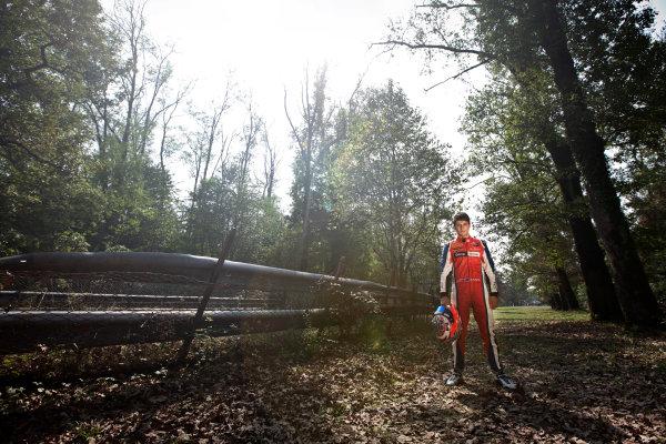 Autodromo Nazionale di Monza, Monza, Italy. Sunday 9th September 2012. Sunday Race 2.2012 GP3 Series Champion Mitch Evans (NZL, MW Arden) championship photo shoot. Portrait. World Copyright: Daniel Kalisz/LAT Photographic Ref: Digital Image IMG_6993.jpg