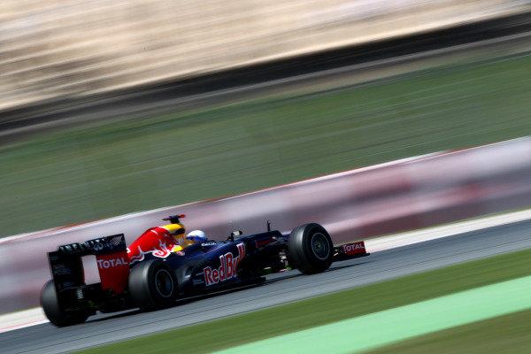 Circuit de Catalunya, Barcelona, Spain11th May 2012Sebastian Vettel, Red Bull RB8 Renault. World Copyright:Andy Hone/LAT Photographicref: Digital Image  HONY9185