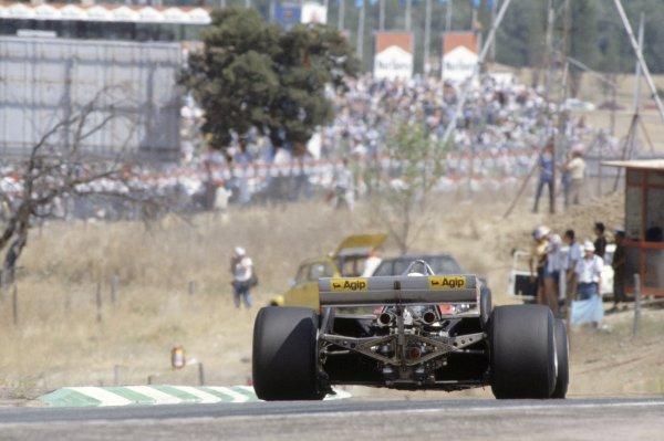 1981 Spanish Grand Prix.Jarama, Spain. 19-21 June 1981.Didier Pironi (Ferrari 126CK), 15th position.World Copyright: LAT PhotographicRef: 35mm transparency 81ESP17
