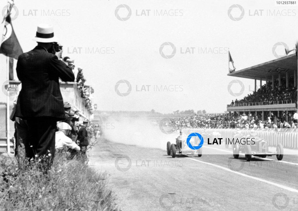 1934 Marne Grand Prix Reims, France. 8 July 1934 Achille Varzi, Alfa Romeo Tipo-B