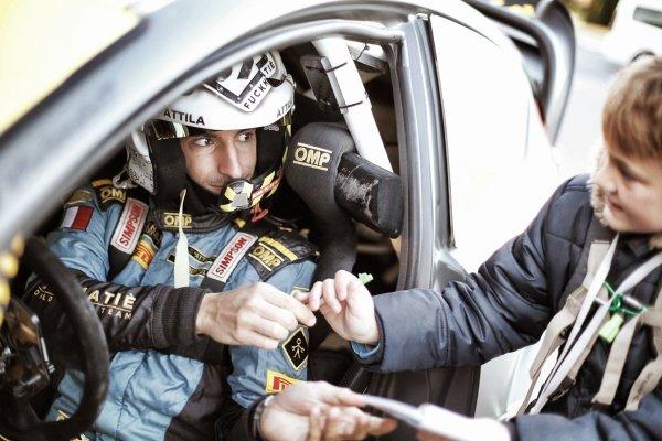 Lorenzo Bertelli (ITA) / Giovanni Bernacchini (ITA) Ford Fiesta RS WRC at FIA World Rally Championship, Rd12, RAAC Rally de Espana, Preparations and Shakedown, Costa Daurada, Catalunya, Spain, 22 October 2015.