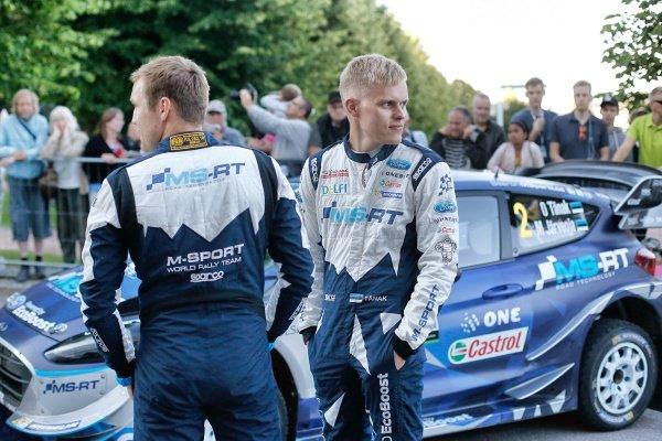 Ott Tanak (EST) / Martin Jarveoja (EST), M-Sport World Rally Team WRC at World Rally Championship, Rd9, Rally Finland, Day One, Jyvaskyla, Finland, 28 July 2017.