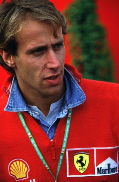 1998 Belgian Grand Prix.Spa-Francorchamps, Belgium. 28-30 August 1998.Ferrari test driver Luca Badoer.World Copyright - LAT Photographic