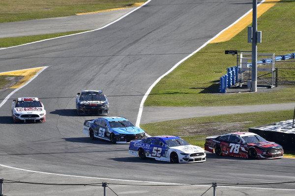 #78: BJ McLeod, Live Fast Motorsports, Ford Mustang, #52: Josh Bilicki, Rick Ware Racing, Ford Mustang, and #51: Cody Ware, Petty Ware Racing, Chevrolet Camaro