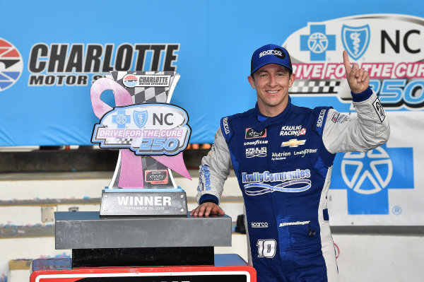#10: A.J. Allmendinger, Kaulig Racing, Chevrolet Camaro Digital Ally in victory lane