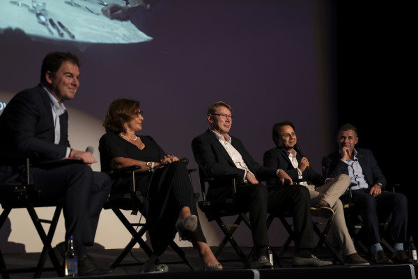 James Allen, Michele Mouton, Mika Hakkinen, Felipe Massa and Tom Kristensen on stage