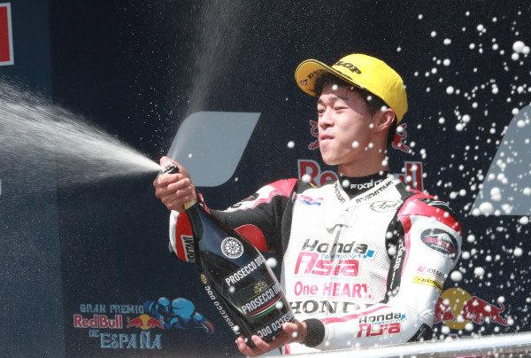 Second place Ai Ogura, Honda Team Asia.