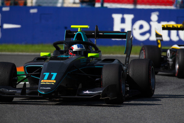 AUTODROMO NAZIONALE MONZA, ITALY - SEPTEMBER 07: Jake Hughes (GBR, HWA RACELAB) during the Monza at Autodromo Nazionale Monza on September 07, 2019 in Autodromo Nazionale Monza, Italy. (Photo by Joe Portlock / LAT Images / FIA F3 Championship)