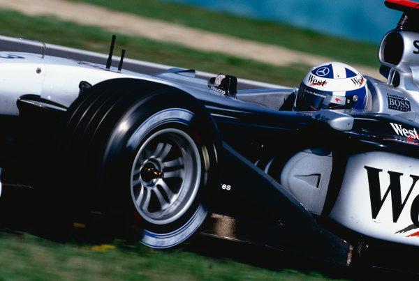 2002 Hungarian Grand Prix.Hungaroring, Budapest, Hungary. 16-18 August 2002.David Coulthard (McLaren MP4/17 Mercedes) 5th position.Ref-02 HUN 16.World Copyright - Rose/LAT Photographic