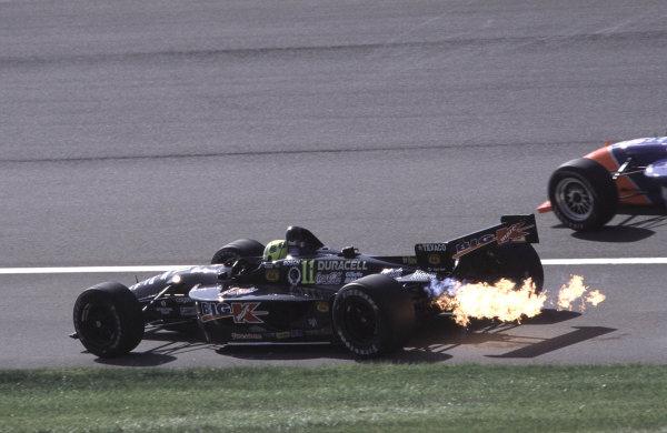 1999 CART California 500, California Speedway 31/10/99Fittipaldi is on fire again.... .-1999, Michael L. Levitt / USALAT PHOTOGRAPHIC