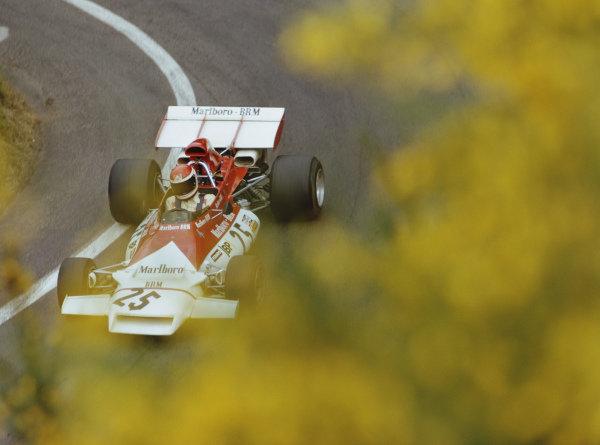 Helmut Marko, BRM P160B, during practice.