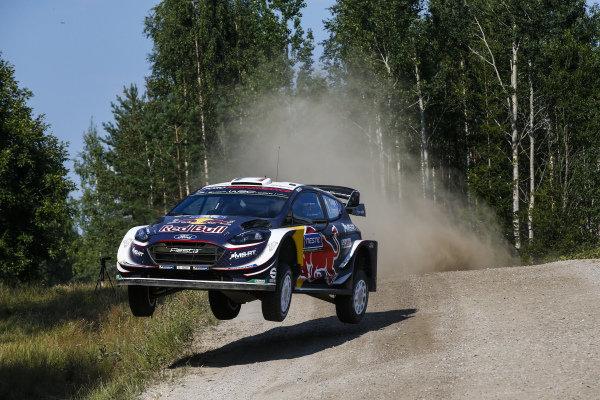 Sebastien Ogier in full attack mode on Rally Finland