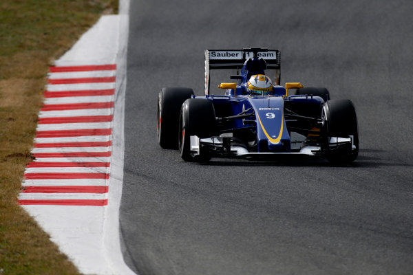 Circuit de Catalunya, Barcelona, Spain Monday 22 February 2016. Marcus Ericsson, Sauber C35 Ferrari. World Copyright: Glenn Dunbar/LAT Photographic ref: Digital Image _W2Q1116