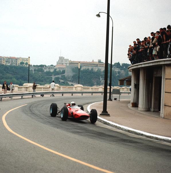 Monte Carlo, Monaco.28-30 May 1965.John Surtees (Ferrari 158) 4th position.Ref-3/1628.World Copyright - LAT Photographic