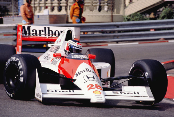 1990 Monaco Grand Prix.Monte Carlo, Monaco.24-27 May 1990.Gerhard Berger (McLaren MP4/5B Honda) 3rd position.Ref-90 MON 40.World Copyright - LAT Photographic