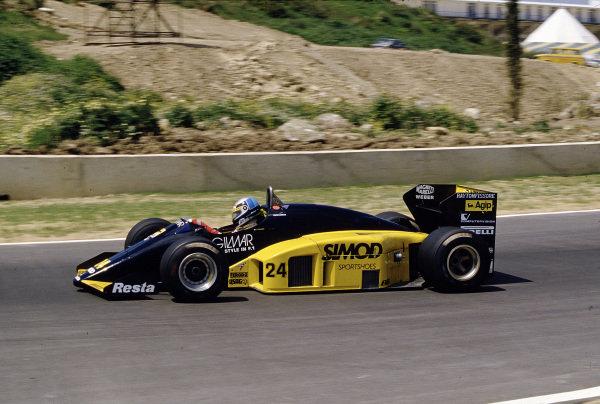 1986 Spanish Grand Prix. Jerez, Spain. 11-13 April 1986. Alessandro Nannini (Minardi M185B Motori Moderni). Ref-86 ESP 57. World Copyright - LAT Photographic