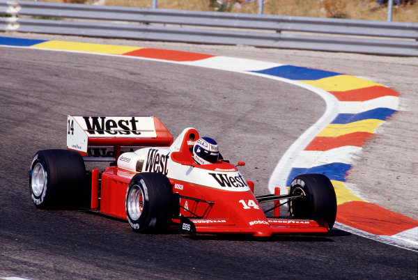 1986 French Grand Prix. Paul Ricard, Le Castellet, France. 4-6 July 1986. Jonathan Palmer (Zakspeed 861). Ref-86 FRA 39. World Copyright - LAT Photographic