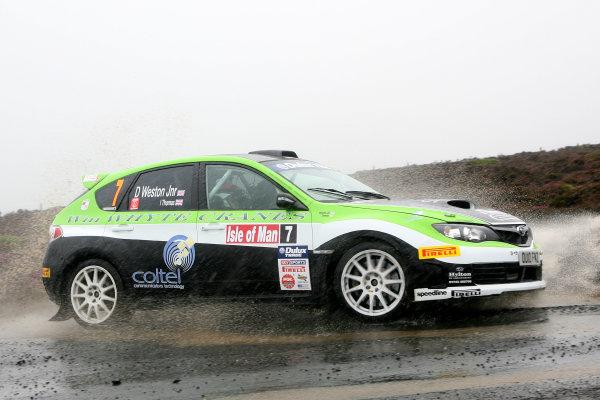 Isle of Man. 9th - 10th July 2010.Dave Weston Jnr/Ieuan Thomas - Subaru Impreza N16.World Copyright: Ebrey LAT Photographic.
