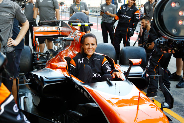 Red Bull Ring, Spielberg, Austria. Thursday 06 July 2017. The McLaren team organise an all-female pit stop. World Copyright: Steven Tee/LAT Images ref: Digital Image _O3I4866