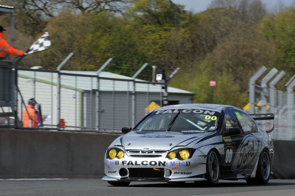 2017 DDMC Northern Saloon & Sports Car Championship, Oulton Park, Cheshire. 15th April 2017. Andy Robinson Ford Falcon. World Copyright: JEP/LAT Images.