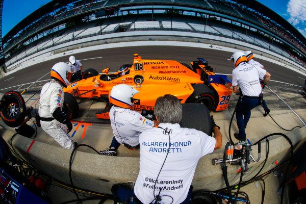 Verizon IndyCar Series  Indianapolis 500 Race Indianapolis Motor Speedway, Indianapolis, IN USA  Friday 26 May 2017. Fernando Alonso, McLaren-Honda-Andretti Honda. World Copyright: Steven Tee/LAT Images ref: Digital Image _R3I6009