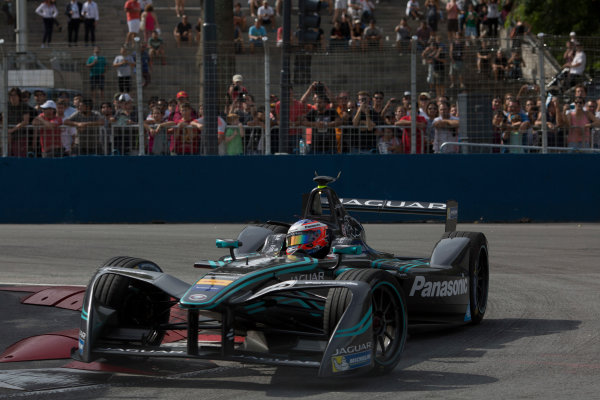 2016/2017 FIA Formula E Championship. Buenos Aires ePrix, Buenos Aires, Argentina. Saturday 18 February 2017 Mitch Evans (20, Panasonic Jaguar Racing). Photo: Alastair Staley/LAT/Formula E ref: Digital Image 580A7258