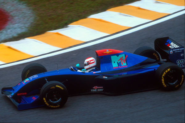 Interlagos, Sao Paulo, Brazil.25-27 March 1994.Roland Ratzenberger (Simtek S941 Ford). He did not qualify for the race.Ref-94 BRA 45.World Copyright - LAT Photographic
